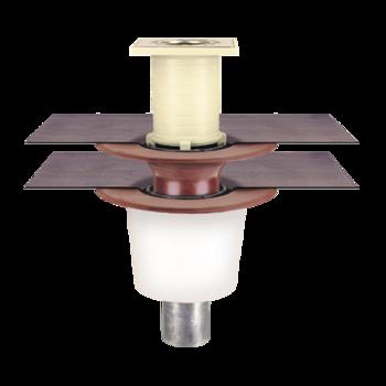 Receptor pentru balcon cu degivrare si conectare la doua straturi, in sistem continuu