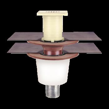 Receptor pentru balcon cu degivrare si conectare la doua straturi, in sistem continuu, pentru ultimul etaj