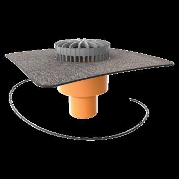 Receptor terasă TOPWET cu degivrare 230V, flanșă din membrană bituminoasă