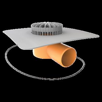 Receptor terasă TOPWET cu degivrare 230V, flanșa din membrană PVC