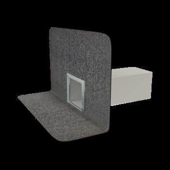 Receptor de colț(gargui) TOPWET cu secțiune rectangulară