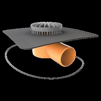 Receptor terasă TOPWET cu degivrare 230V, flanșă la comandă (EPDM, TPO, FPO, PE, STE – hidroizolatii lichide/pensulabile)