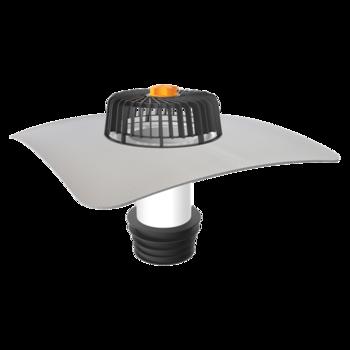 Receptor renovări TOPWET cu flanșă din membrană PVC pentru acoperiș fără izolație termică