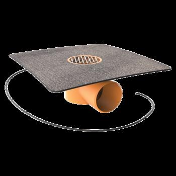 Receptor de balcon TOPWET cu flanșă din membrană bituminoasă, degivrare 230 V