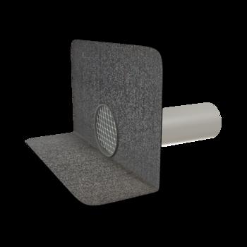 Receptor de colț(gargui) TOPWET cu secțiune rotundă, flanșă din membrană bituminoasă