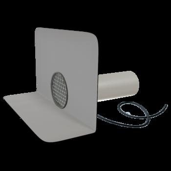 Receptor de colț(gargui) TOPWET cu secțiune rotundă, flanșă din membrană PVC, degivrare 230 V