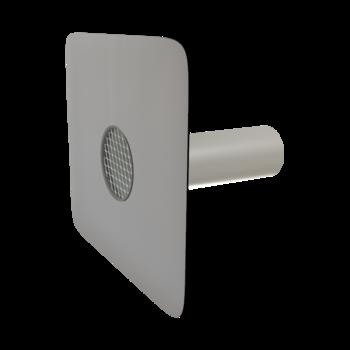 Deversor de siguranță (prea-plin) TOPWET cu secțiune rotundă și flanșă din membrană PVC
