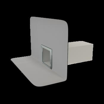 Receptor de colț(gargui) TOPWET cu secțiune rectangulară, flanșă din membrană PVC