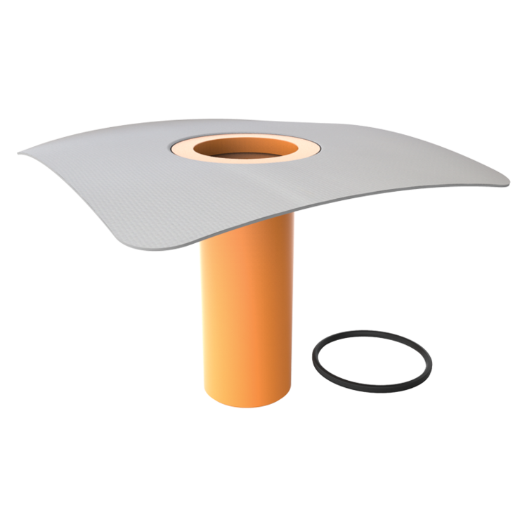 Adaptor/înălțător pentru izolația termică TOPWET cu flanșă din membrană PVC
