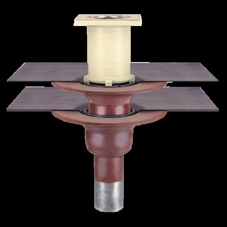 Receptor pentru balcon cu conectare la doua straturi, in sistem continuu