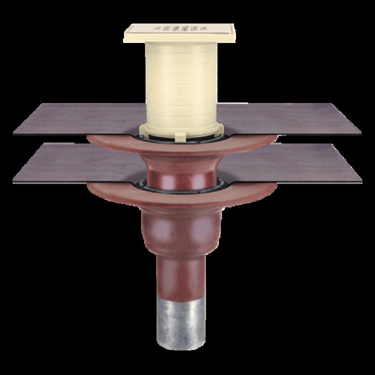 Receptor pentru balcon cu conectare la doua straturi, in sistem continuu, pentru ultimul etaj