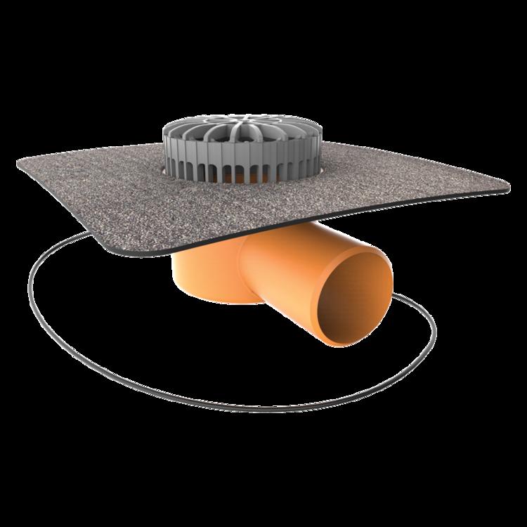 Receptor terasă TOPWET cu degivrare 230V, flanșa din membrană bituminoasă