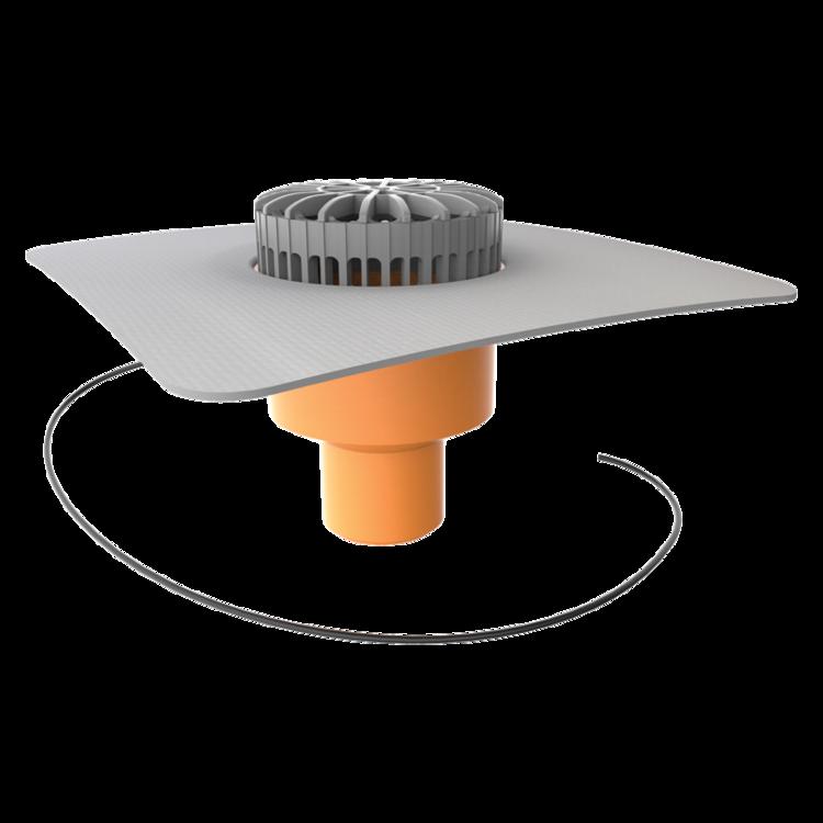 Receptor terasa TOPWET cu degivrare 230V flanșa din membrană PVC