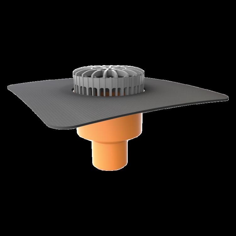 Receptor terasă TOPWET cu flanșă la comandă (EPDM, TPO, FPO, PE, STE – hidroizolații lichide/pensulabile)