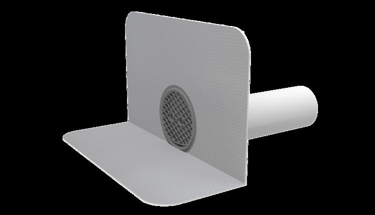 Receptor de colț(gargui) TOPWET cu secțiune rotundă, flanșă din membrană PVC