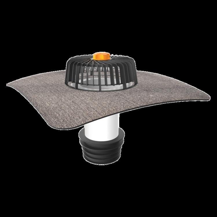 Receptor renovări TOPWET cu flanșă din membrană bituminoasă pentru acoperiș fără izolație termică