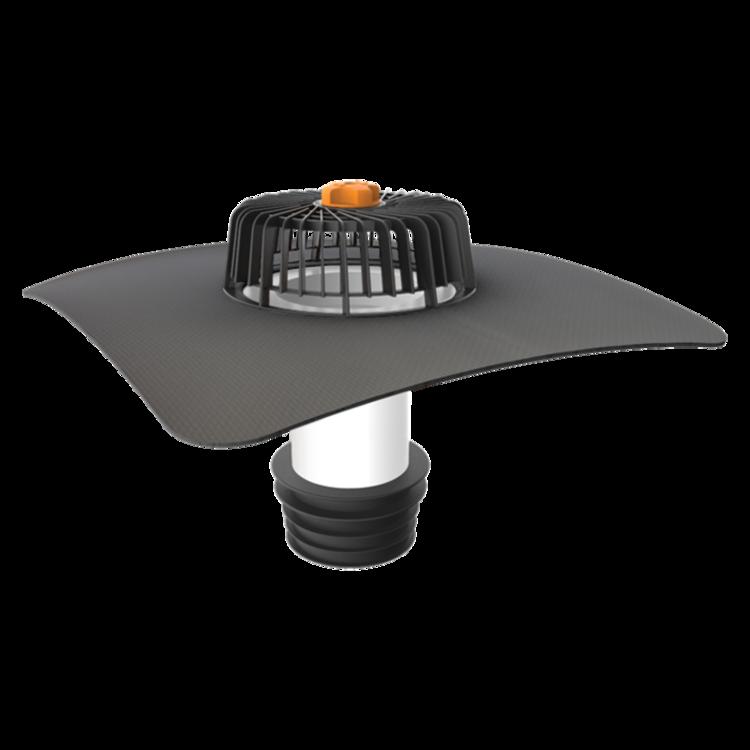 Receptor renovări TOPWET cu flanșă la comandă (EPDM, TPO, FPO, PE, STE – hidroizolatii lichide/pensulabile) pentru acoperiș fără izolație termică