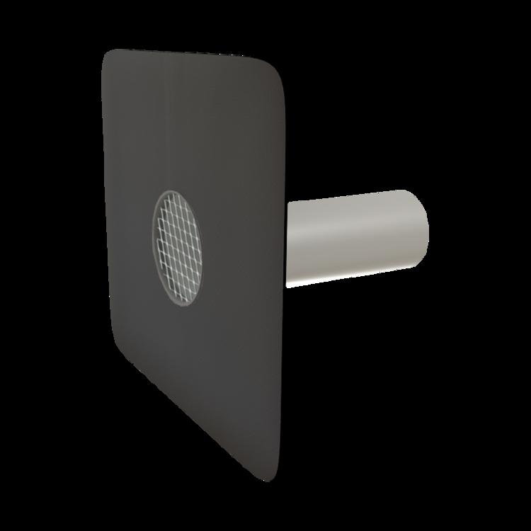 Deversor de siguranță (prea-plin) TOPWET cu secțiune rotundă și flanșă la comandă (EPDM, TPO, FPO, PE, STE – hidroizolatii lichide/pensulabile).